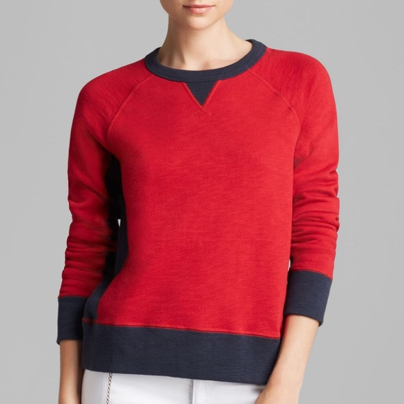 rag & bone Sweaters - Rag and Bone red and navy sweater pullover
